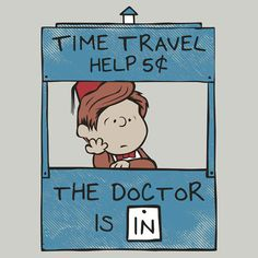 Doctor Who and Peanuts mash-up