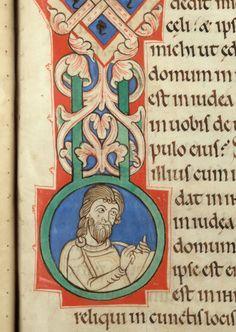 Douai - BM - ms. 0003, f. 094 Bible (partie de) / Cyrus et Esdras écrivant