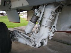 A-6 Intruder landing gear assembly, Palm Springs Air Museum.