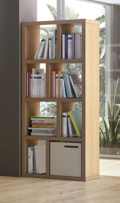 Temahome Berlin, 4 level /70cm Shelving Unit in Oak or Pure White, Opt. Storage Boxes