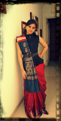 Modern Twist on Traditional Saree