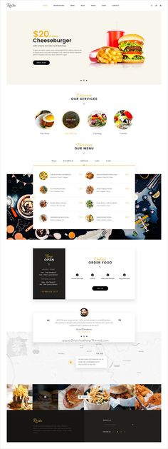 Landing Page Inspiration, Web Design Inspiration, Blog Layout, Web Layout, Food Web Design, Ux Design, Restaurant Website Design, Web Design Projects, Web Themes