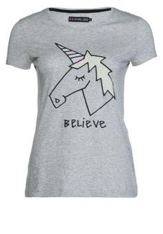 Who does not love unicorns? Camiseta print - grey melange/grey melange