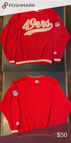b01d78372 NFL PRO LINE AUTHENTIC SAN FRANCISCO 49ERS SWEATER VINTAGE NFL PRO LINE  AUTHENTIC 90s STARTER SAN