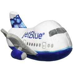 Daron Worldwide Trading Daron Jetblue Plush Plane with Sound * For more information, visit image link. (This is an affiliate link) #StuffedAnimalsPlushToys