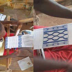 Woven Kente cloth from Kumasi, Ghana