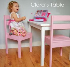 This simple children's play table is easy and economical to build, at the perfect height for toddlers and preschoolers.