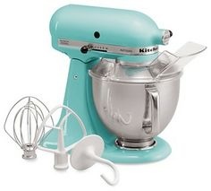 KitchenAid Artisan 5 Quart Tilt Head Stand Mixer, Aqua Sky - modern - small kitchen appliances - Bloomingdales