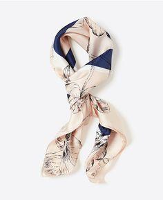 Ann Taylor's Tulip Silk Scarf. #anntaylor #summerscarf #silkscarf