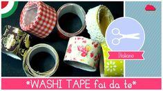 Tutorial come fare il WASHI TAPE (nastro adesivo decorato) fai da te - I...