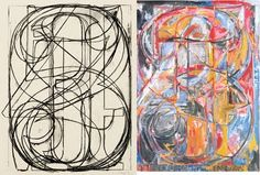 jasper johns numbers - perfect abstract k-2 lesson shapes and numbers
