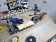 DIY-Angle grinder jig\Portable Grinder Stand( BY ISTOMAKER) - YouTube