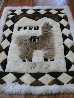 Vintage Peruvian Huacaya Alpaca Fur Rug/Wallhanging By CasaDelPaca, $175.00