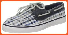 Sperry Women's Bahama 2-Eye, Navy Seersucker Plaid-5.5 - Athletic shoes for women (*Amazon Partner-Link)