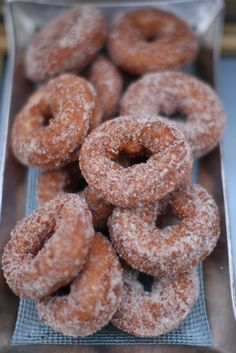 donuts- just like the ones Jimmy and I made on Saturdays when we were first married.