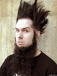 Wayne of Static-X - My sister tried to do my hair like his when I was 13; didn't pan out lol. My hair were too long, and I most likely needed a shit load of hairspray/gel to try to do his crazy hairdo lol. ...Wish we still had the picture she took!