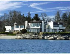 Greenwich, CT 06830 — Spectacular Direct Li Sound W/ Panoramic Views Of Water From Every Rm Of This Custom Home in Priv Assoc. Extravagant Homes, Waterfront Homes For Sale, Mansions For Sale, Modern Mansion, Expensive Houses, Luxury Real Estate, Custom Homes, Luxury Homes, Beautiful Homes