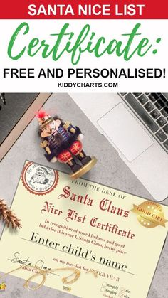 Give a special treat to your kids on this upcoming Christmas. Gift them a FREE personalised Santa nice list Certificate. Isn't it a superb idea? Grab it now!