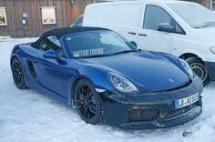 Repéré! Le prototype de la Porsche Boxster GT4 couvert par temps froid