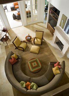 1000 images about italian mediterranean villa on - Circular living room design ...
