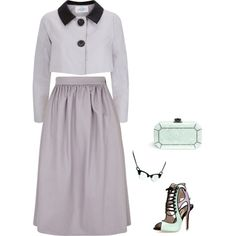 """Lavender and Mint Cocktail"" by tara-starlet on Polyvore"