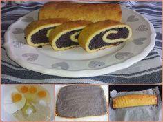 🤗 MAKOVÝ ZÁVIN 😋 příště bude tvarohový ;)  @ 4 vejce, 40 g mandl.mouka, 100 g řeckého jogurtu, 1/2 ČL PDP, 1 PL sladidla @ náplň: 80 g mletého máku, , 1 vejce, 70 ml smetany, 1 ČL skořice, 2 PL sladidla - Vše promíchat a necháme stát při pokojové teplotě. - V míse smíchat mandl. mouku s vejci a jogurtem. Ke směsi přisypat sladidlo a prášek. Nechat 5 minut odstát a potom těsto vylít na plech vyložený pečicím papírem (rovnoměrně rozprostřít), placka asi 30 x 25 cm. Péct 15 minut na 160 °C… Hot Dog Buns, Hot Dogs, Lowes, Hamburger, Low Carb, Bread, Breakfast, Ethnic Recipes, Food