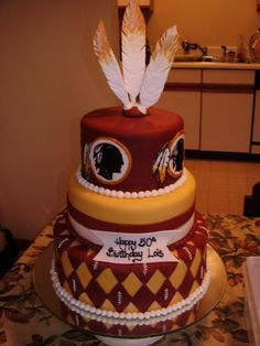 I want a birthday cake with this theme! I DO have an October birthday after all. and I ADORE NFL Football! And of course my Redskins. and I don't care if you don't like them, I'm not asking you to like my team! Redskins Cake, Redskins Football, Football Team, Redskins Gear, Beautiful Cakes, Amazing Cakes, Best Lemon Bars, Gula, Specialty Cakes