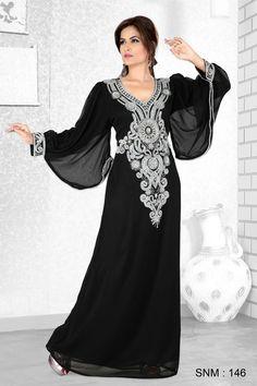 Farasha Arabic Abaya Dubai Encrusted Eid Jalabiya Maxi Dress Various Colours Abaya Fashion, Muslim Fashion, Modest Fashion, Women's Fashion, Abaya Style, Beautiful Hijab, Beautiful Outfits, Arabic Dress, Abaya Designs