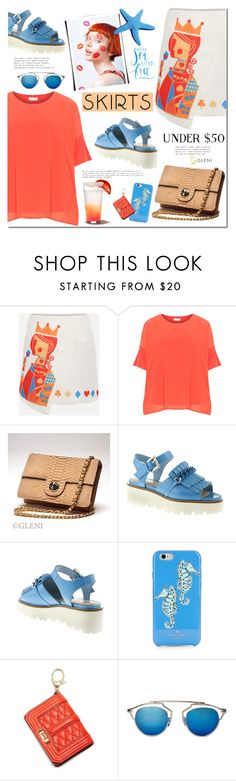 Skirts Under $50 by mada-malureanu on Polyvore featuring moda, Kate Spade, Rebecca Minkoff, under50, gleni, gleniboutique and skirtunder50