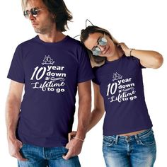 10 Years Anniversary Special Couple T-Shirt