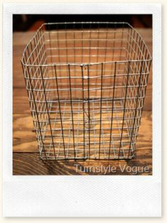 DIY: Wire Baskets (Round or square)