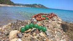 Wood Jade Mala Heart Chakra 108 Mala Beads Necklace