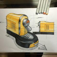 Instagram @jeong_saeam - #dailysketch#sketch#sketching#draw#drawing#productdesign#productdesignsketch#idsketch#ideasketch#industrial#industrialdesign#coffeemachine#tradio#제품스케치#제품드로잉#스케치#드로잉#제품디자인#제품렌더링#rendering#copic