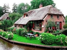 Thatched roof cottages - gotta love them!