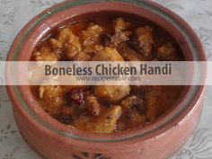 Boneless Chicken Handi is a rich, luscious creamy chicken curry which make in a traditional clay pot. Check it out the Boneless Chicken Handi Recipe here!