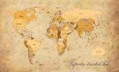 Térkép vlies poszter, fotótapéta 3543VE- több méretben