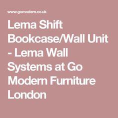 Lema Shift Bookcase/Wall Unit - Lema Wall Systems at Go Modern Furniture London