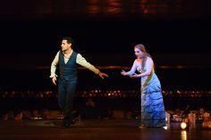 Flórez (Orfeo) y Crowe (Euridice) en 'Orfeo y Euridice' de Gluck. Royal Opera House, Covent Garden, septiembre de 2015