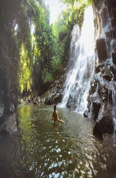 Aling Aling Waterfall is located near Singaraja in Bali Indonesia. There are 7 waterfalls in total ad it is one of the best waterfalls in Bali. Ubud, Rivers, Lakes, Bucket, Outdoors, Travel, Viajes, River, Destinations