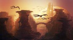 Fantasy landscape                 by mrainbowwj