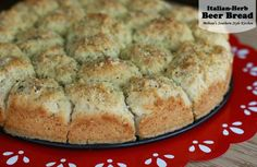 Italian Herb Beer Bread - made with self rising flour.