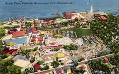 Aerial view of the once famous Palisades Amusement Park.