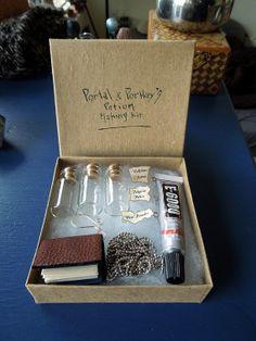 Potion Making Kit - DIY - Make Your Own Potion Pendants - 3 Potion Pendant Gift Box