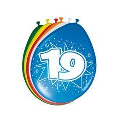 Ballonnen 19 jaar, 8st.