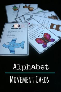 Movements for each letter of the alphabet! What a fun way to get the kids moving and learning. You could even add in letter sounds while doing this! Find them at Pink Oatmeal blog or the Pink Oatmeal Teachers Pay Teachers store!