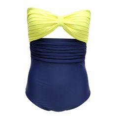 Neon Yellow / Navy Blue