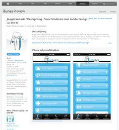 """Zoek je een nieuwe tandarts in de buurt van Nijmegen? Of ben je al patiënt bij Jeugdtandarts Waalsprong in Lent?   Download dan nu onze eigen """"Jeugdtandarts Waalsprong""""-app in de iTunes AppStore. Deze kun je eenvoudig vinden, door op je iPhone of iPod de """"App Store"""" te openen en dan te klikken op het vergrootglaasje.  #tandarts #jeugdtandarts #kindertandarts #angsttandarts #Lent #Waalsprong #Gelderland #Nijmegen App Store, Ipod Touch, Apps, App, Appliques"""