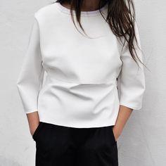 White Top // Fashion // Style // Modern // Minimalist