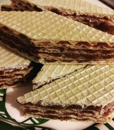 napolyi-szelet Cream Cheese Flan, Waffle Cake, Winter Food, Waffles, Food And Drink, Sweets, Fudge, Bread, Cookies