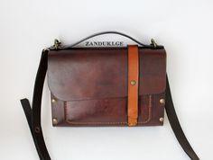 ნატურალური ტყავის ხელნაკეთი ჩანთა, დამზადებულია საქართველოში